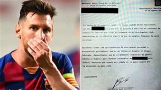 Tiết lộ nội dung bản fax của Messi gửi cho Barca